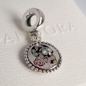 Pandora Day of the Dead Halloween Skull Dangle